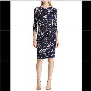Ralph Lauren Jersey Cowlneck Dress